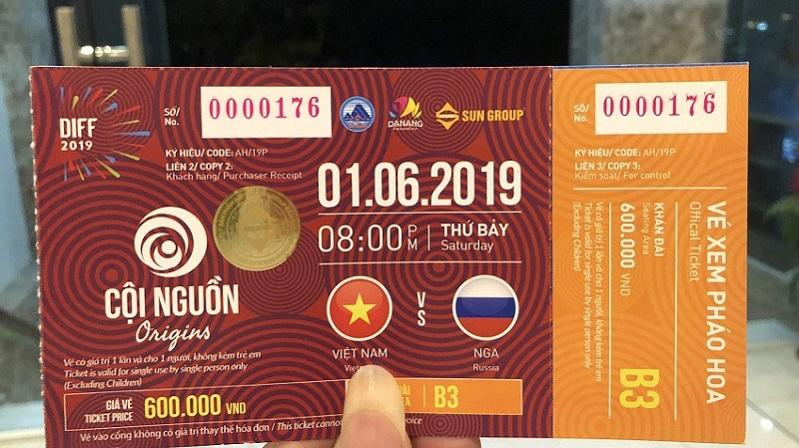 Giá vé đêm khai mạc pháo hoa quốc tế Đà Nẵng 2019